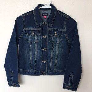 Children's Place Girls Trucker Style Denim Jacket